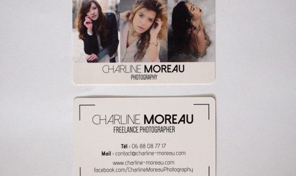 Charline Moreau Photographe carte de visite