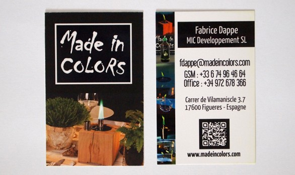 carte de visite Made in colors