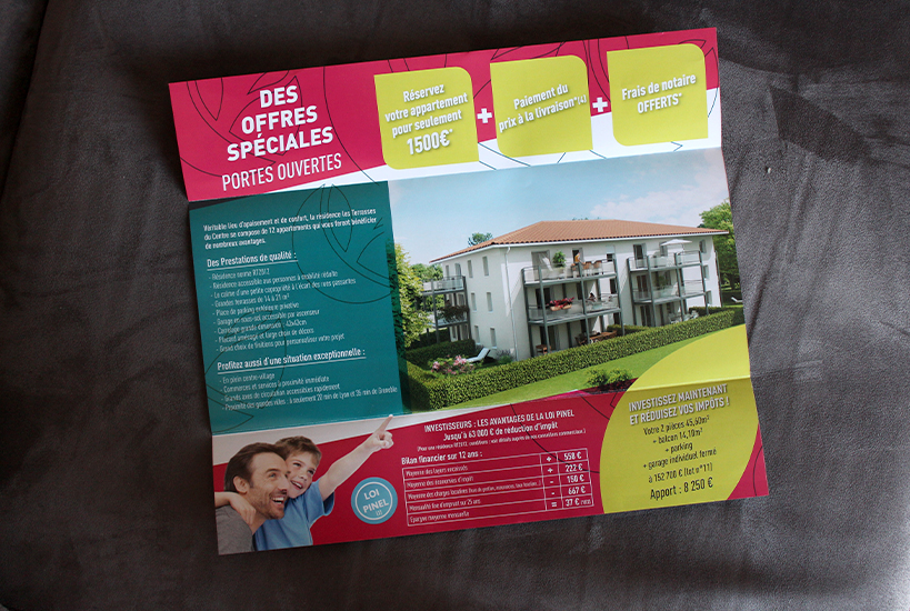 creation flyer immobilier Rhone-Alpes Foncier Neoxia